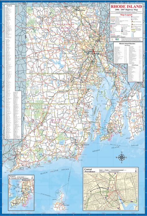 Rhode Island Map and Rhode Island Satellite Images
