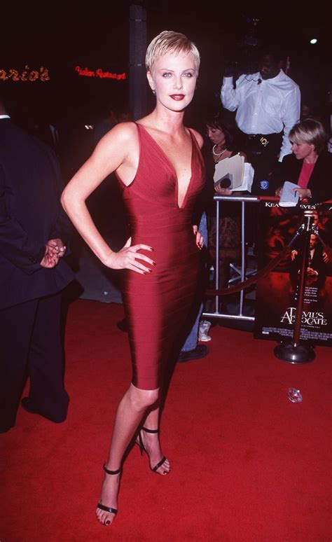 Charlize hit the October 1997 premiere of Devil's Advocate