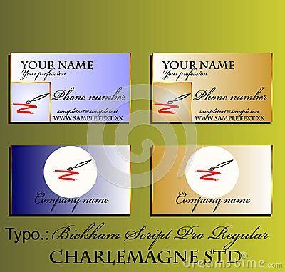 Elegant gradient business card with brush and gold border