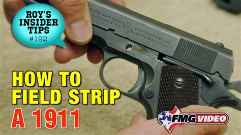 How To Field Strip A 1911 - YouTube