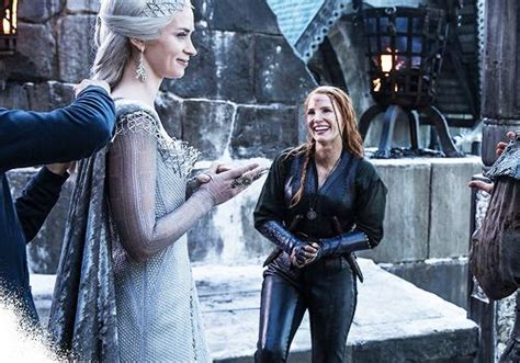 Jessica Chastain behind the scenes of The Huntsman: Winter