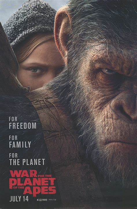 War for the Planet of the Apes movie posters at movie