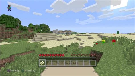 Minecraft PS3 Saddle Location DUNGEON IN VILLAGE! (SEED