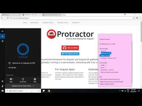 Tutorial By Example: How to Install/Uninstall Protractor
