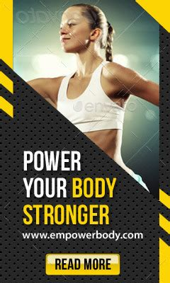 Fitness & Sport Activity Banner Ads by rapidgraf