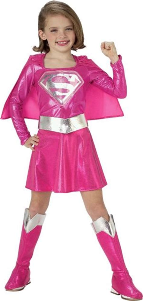 Toddler Girls Pink Supergirl Costume - Party City